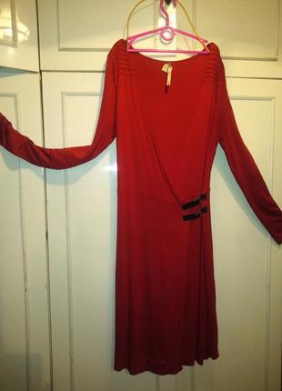 Стильное английское платье на запах  l