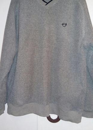 Утепленный мужской свитер. 50 размер