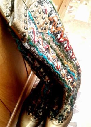 Фирменные удлиненные сапожки vanessa, кожа, сапоги удлиненные, кожаные