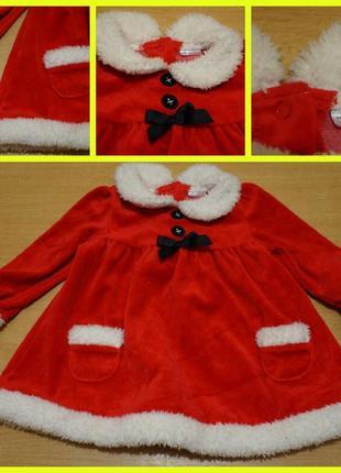 F&f новогоднее платье 6-9 мес новородний костюм новорічна сукня новорічний