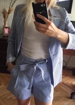 Костюмчик с шортами -лен