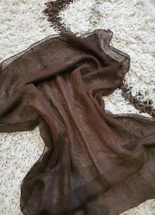 Шоколадный шарф шёлк италия