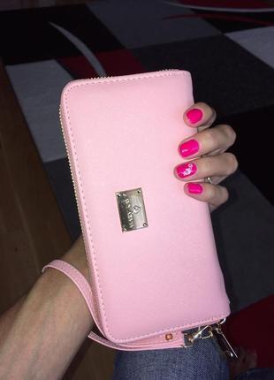 Классный кошелек, розовое портмоне от мери кей mary kay