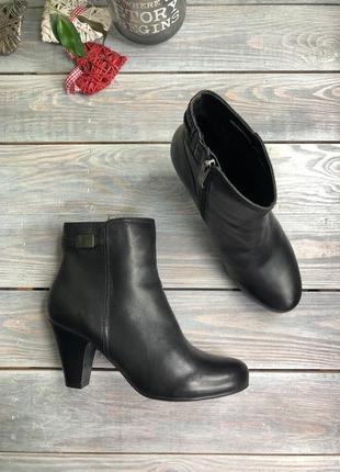 5th avenue кожаные ботильоны на каблуке ботинки полусапоги