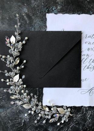Свадебное украшение для волос, веточка в прическу