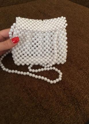 Жемчужная сумочка ручная робота