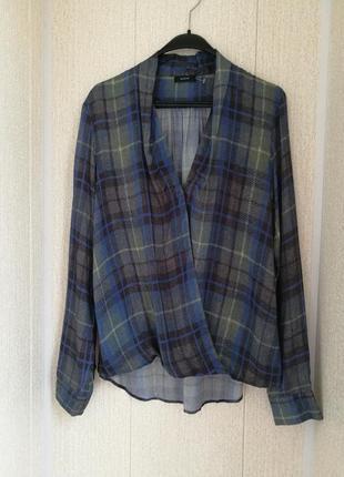 Стильная блуза на запах из вискозы riani