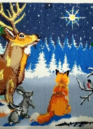Вишивка різдвяна зірка
