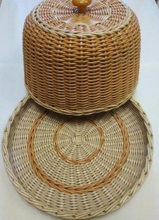 Хлебница из бумажной лозы. handmade