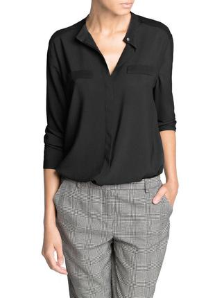 Блуза свободного кроя структурная в мелкую полоску mango