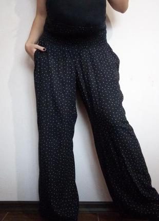 Штани для вагітних h&m/ брюки для беременных/ кюлоты/ тонкие/ летние/ в горошек