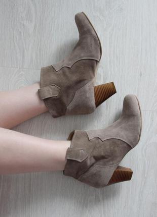 Замшевие ботинки b.c.