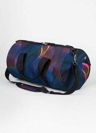 Спортивная или дорожняя сумка barrel stripes color