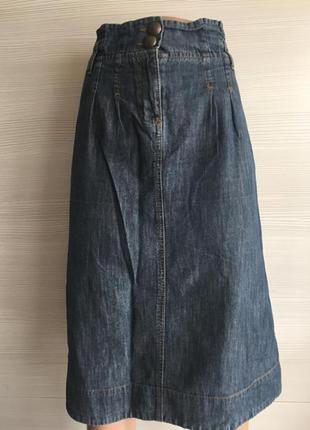 Юбка джинсовая с завышенной талией george
