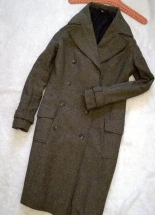 Шерстяное пальто с шелком р.38 divided