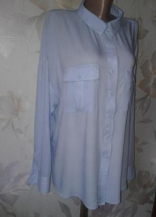 Хлопковая рубашка оверсайз р.54-56