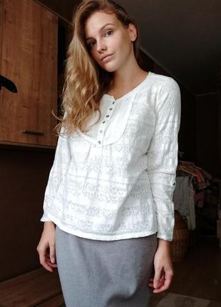 Кружевная блузка лонгслив рубашка блуза прозрачная