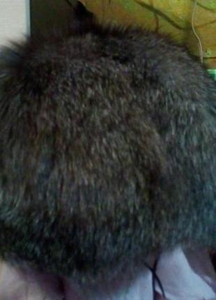 Чернобурка шапка меховая