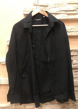 Чёрная рубашка dolce&gabbana