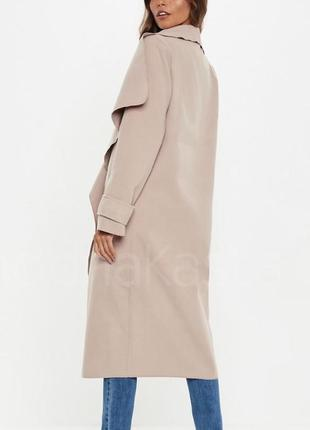 Неймовірне пальто назапах пильно-пудрового кольору🖇