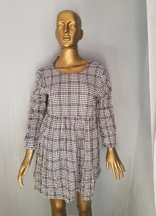 Zara стильное платье в клетку