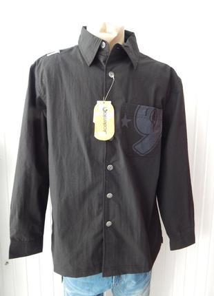 Мужская черная рубашка akademiks с орнаментом
