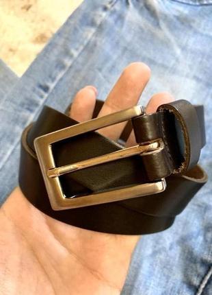 Кожаный фирменный ремень street one leather,черный ремешок,пояс