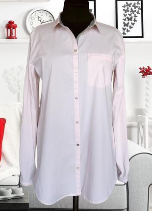 Рубашка коттоновая с трикотажной отделкой esprit