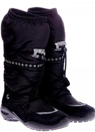 Ecco winter queen сапоги детские зимние черные