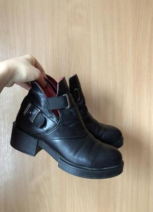 Ботинки кожаные 37 размер зимние