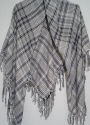 Платок в клетку zero с бахромой шарф хустина+250 платков шарфов на странице