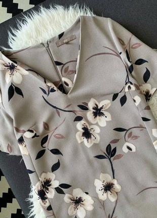 Невероятное 🌺 прямое платье с v-образным вырезом в цветочный принт👍,next