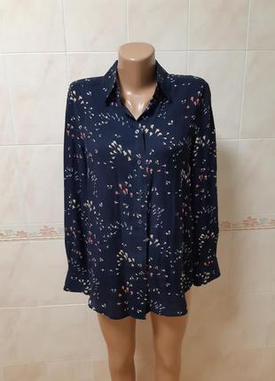 Шёлковая рубашка блузка gant с длинным рукавом
