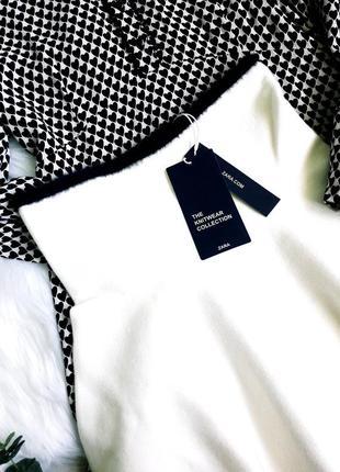 Кремовая юбочка тонкой вязки от zara2 фото