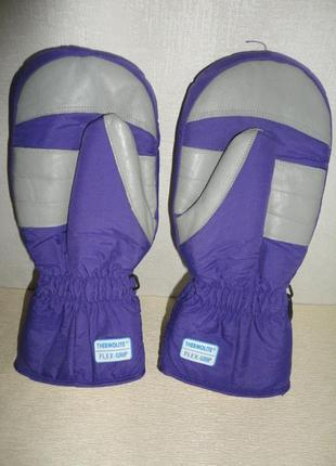 Непромокаемые лыжные рукавицы, варежки,  краги invicta  thermolite (унисекс)