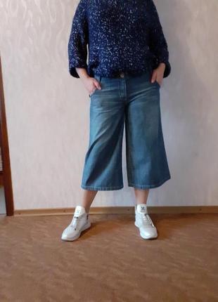 Тренд сезона. модные джинсовые кюлоты next.