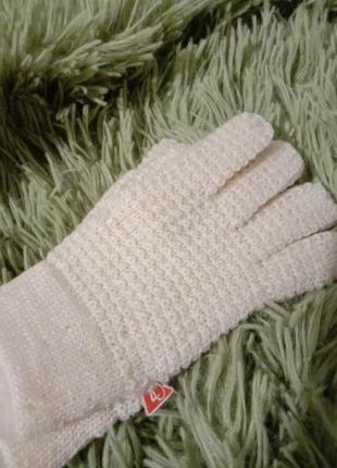 Перчатки тонкие акрил+шерсть