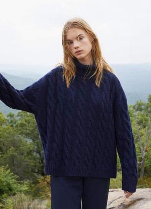 Шикарный итальянский свитер под горло из шерсти и кашемира