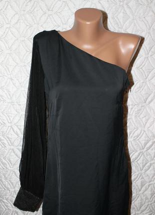 Готовимся к праздникам!) нарядное шифоновое платье на одно плечо от rage