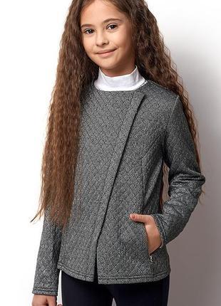 Школьный пиджак, жакет, косуха на молнии от mevis на 146 см