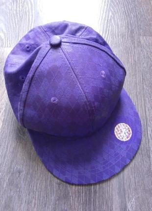Кепка fishbone фиолетовая, стиль хип-хоп, 58 р.
