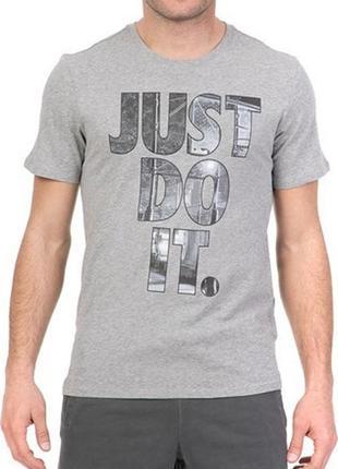 Футболка nike just do it grey mens t-shirt