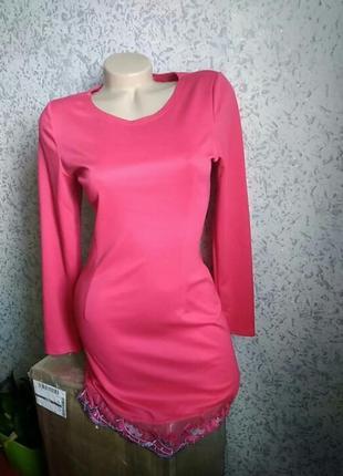 Новое трикотажное платье, теплое миди