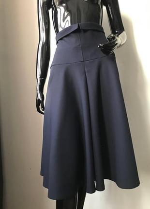Крутая юбка миди на супер высокой посадке шерсть от дорогого бренда bgl