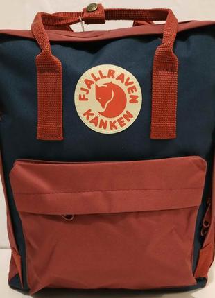 Тканевый рюкзак kanken (бордовый с синими вставками) 19-11-031