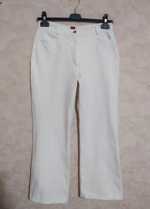 Белые джинсы стрейч кюлоты, olsen, xl
