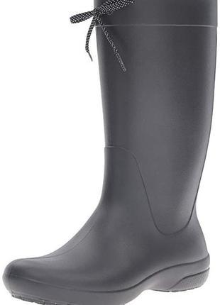 Crocs rainboots резиновые сапоги черные высокие оригинал р.40