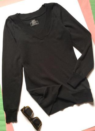 Женская кофта очень удобная пуловер чёрная basics