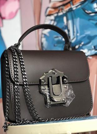 Кожаная сумочка на цепочке италия
