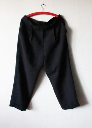 Зауженные укороченные широкие брюки cos  высокая посадка